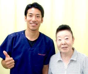 松戸市東松戸 交通事故での痛みと痺れ 70代 女性 C.S様 2ショット写真