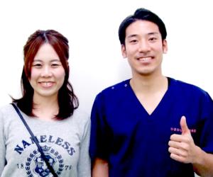 松戸市東松戸 産後の肩こり・ダイエット 30代 女性 K.H様 2ショット写真