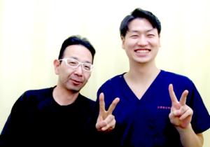 松戸市東松戸 坐骨神経痛・腰の痛み・足のシビレ 40代 男性 S.K様 2ショット写真