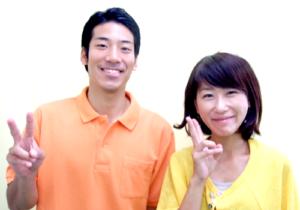 松戸市東松戸 交通事故施術 30代 女性 A.K様 2ショット写真