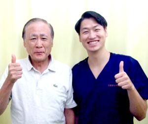 松戸市東松戸 首の痛み 60代 男性 M.K様 2ショット写真