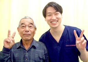 松戸市東松戸 首、足、腕のしびれ 70代 男性 T.K様  2ショット写真